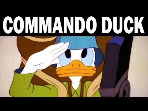 Commando Duck | Donald Duck vs. the Japanese | 1944 | WW2 Era Cartoon